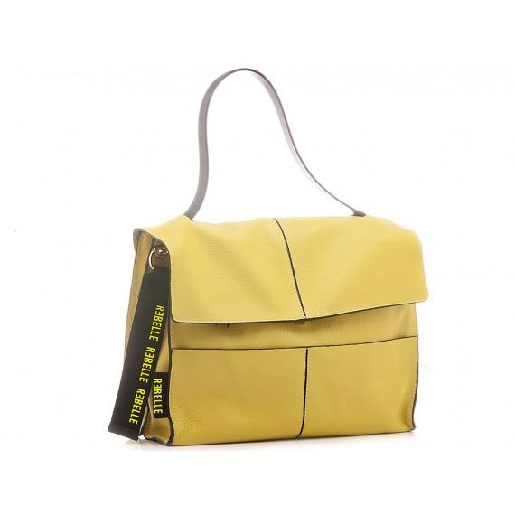 Rebelle Damentasche Leder Limettenfarbe