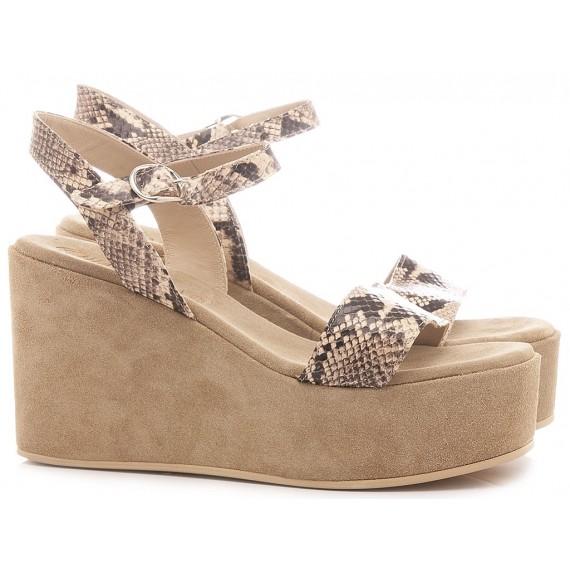 Chiaraluna Women's Sandals Leather Python