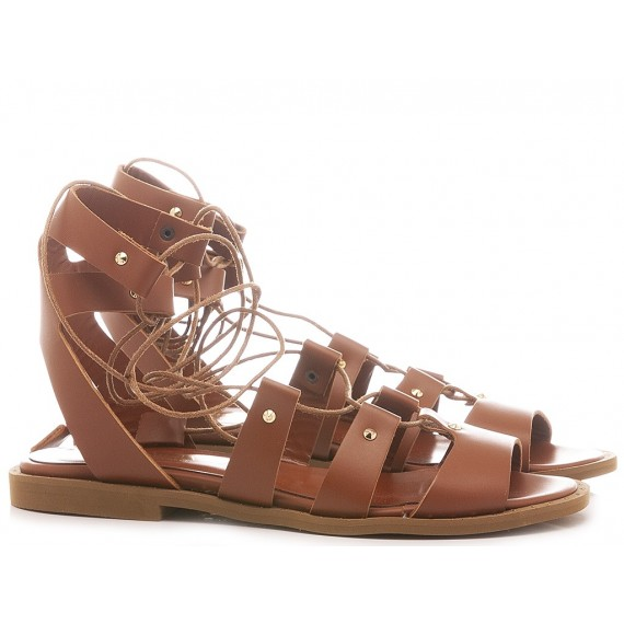Gianni Mazza Women's Sandals Gladiator Tan