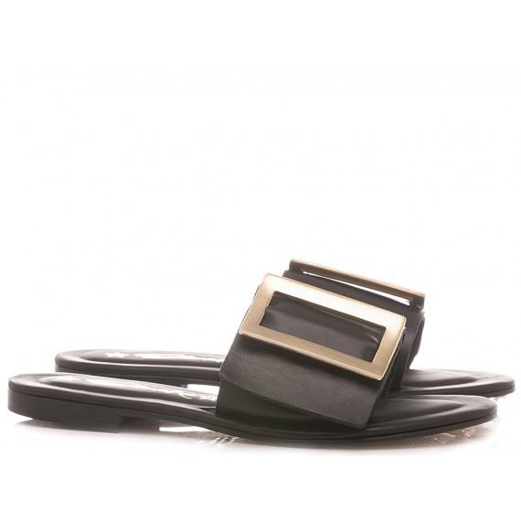 Giacko Frauenschuhe Leder Schwarze Farbe