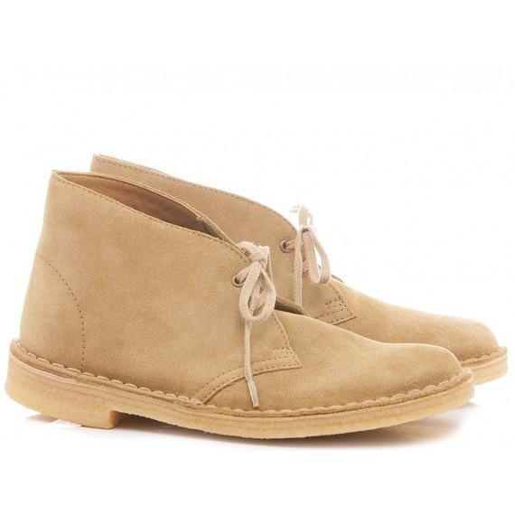 Clarks Desert Boots Suede Caramel