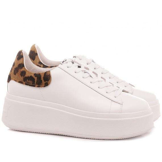 Ash Women's Sneakers Moby White-Cheeta
