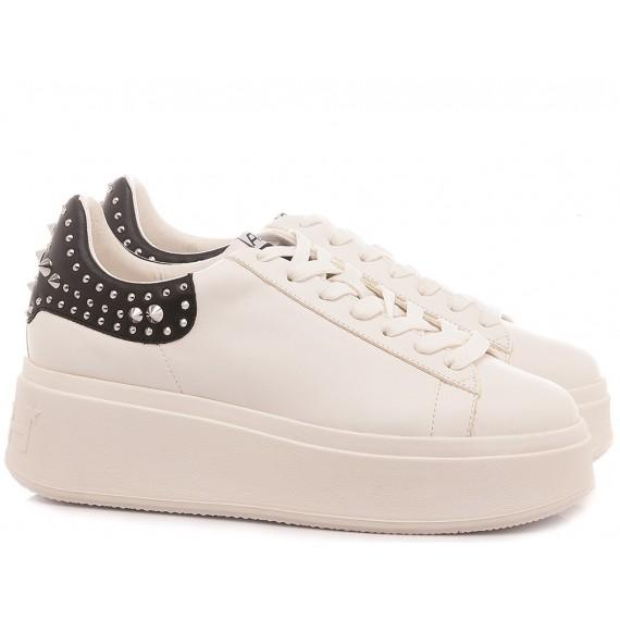 Ash Women's Sneakers Moby Studs White-Black