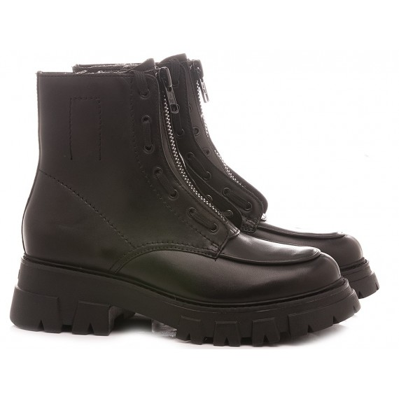 Ash Women's Combat Boots Lynch Black
