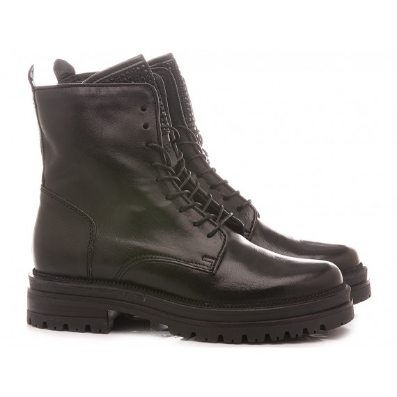 Mjus Women's Combat Boots 158271 Black