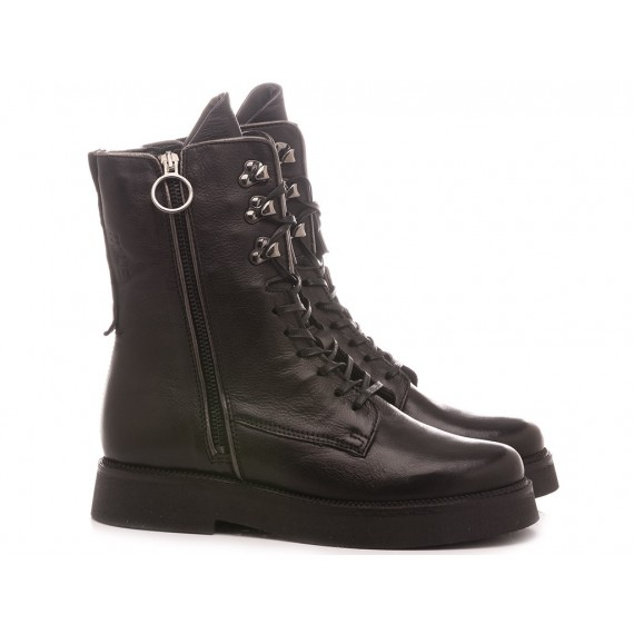 Mjus Women's Combat Boots 565221 Black