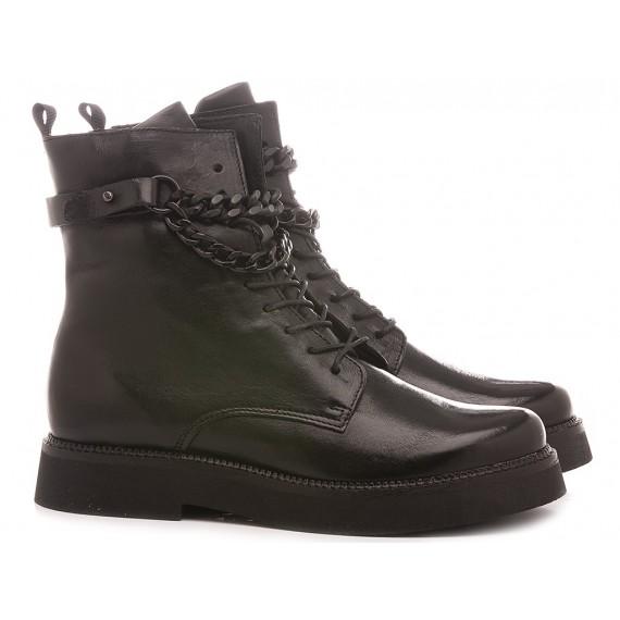Mjus Women's Combat Boots 565226 Black