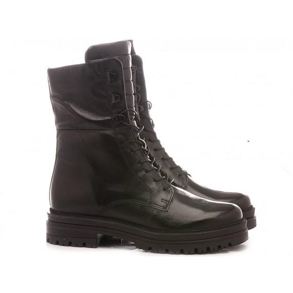 Mjus Women's Combat Boots 158286 Black