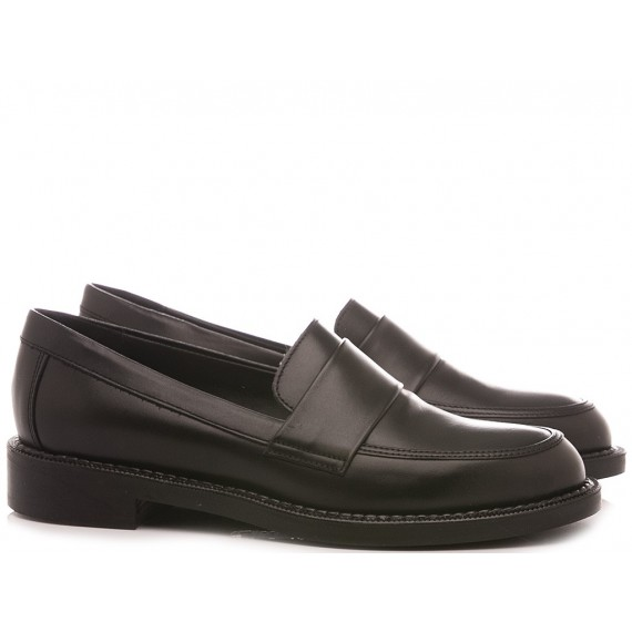 Frau Women's Shoes Loafers 95L3 Leather Black