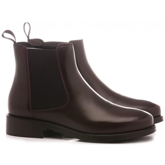 Frau Women's Ankle Boots 98L3 Leather Bordeaux