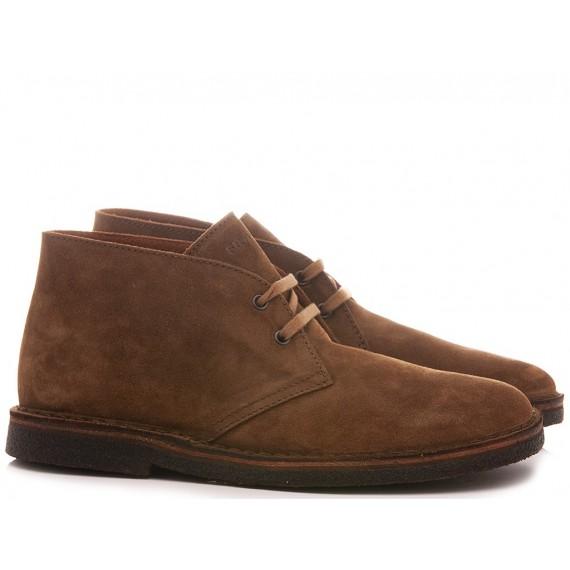 Frau Men's Desert Boots Suede Caramel 25A2