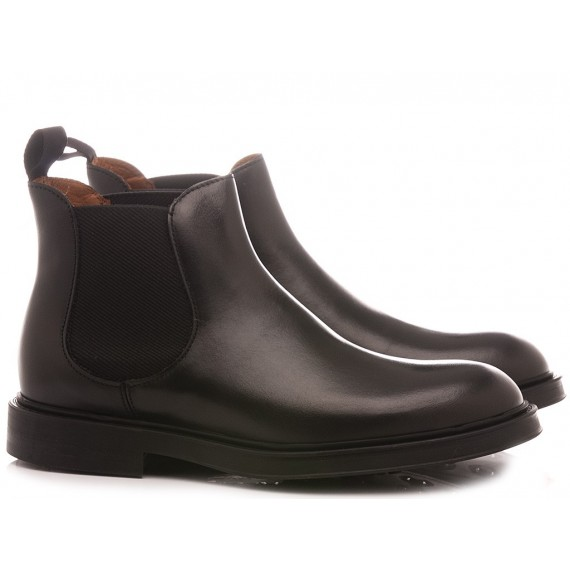 Frau Men's Ankle Boots Leather Black 73L3