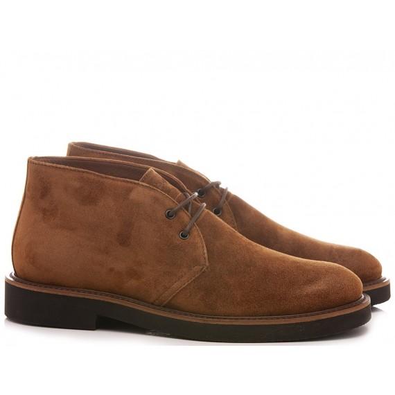Frau Men's Desert Boots Suede Caramel 74A2