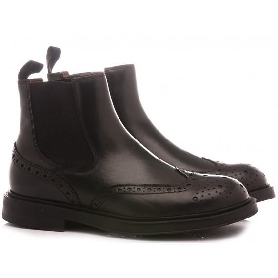 Frau Men's Ankle Boots Leather Black 73L6