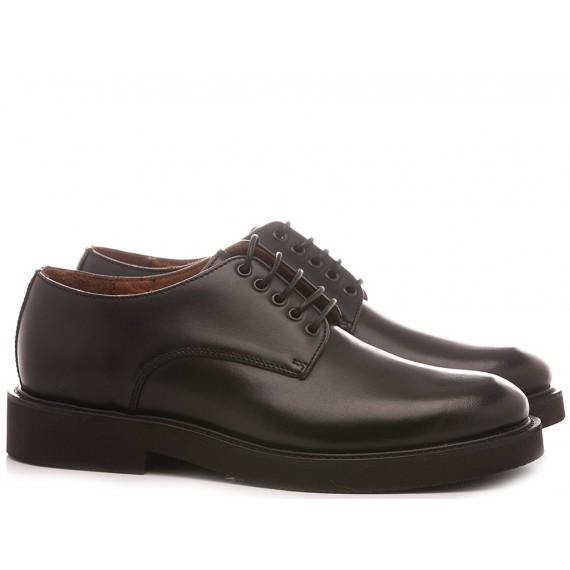 Frau Men's Shoes Leather Black 74L1