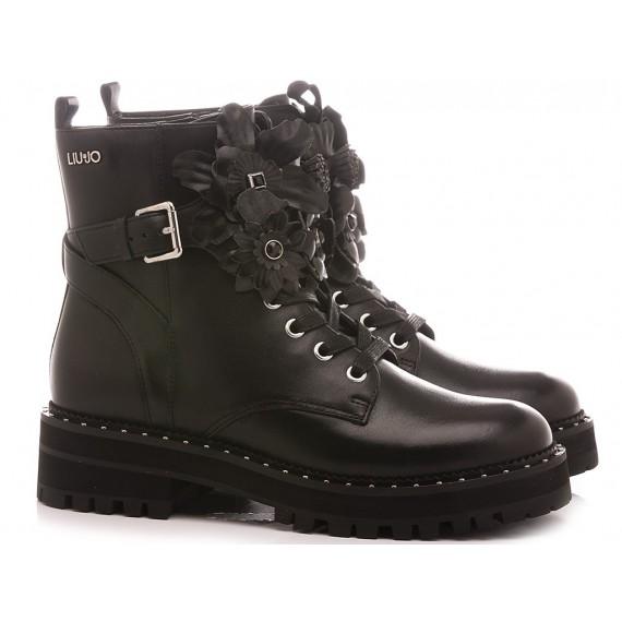 Liu.Jo Women's Ankle Boots Pink 150 Black