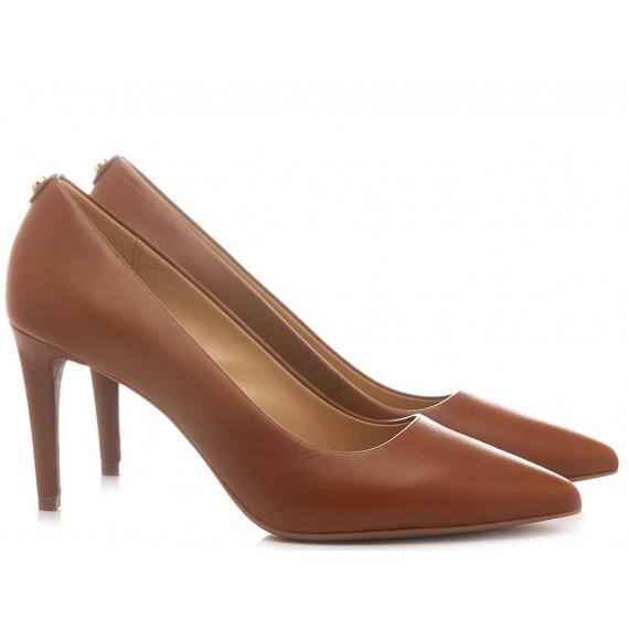 Michael Kors Women's Shoes Decolletè Leather Luggage