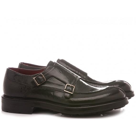 Corvari Men's Shoes Black Leather 1027
