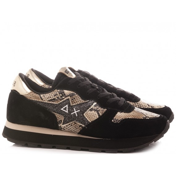 Sun 68 Women's Sneakers Ally Star Python Z40211
