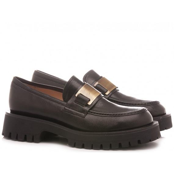 Les Autres Women's Loafers Leather Black 573