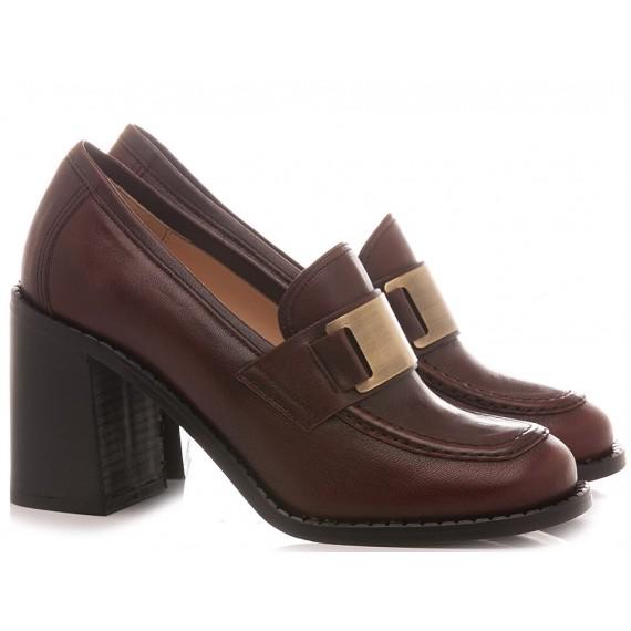 Les Autres Women's Loafers Leather Asport Bordaux 976