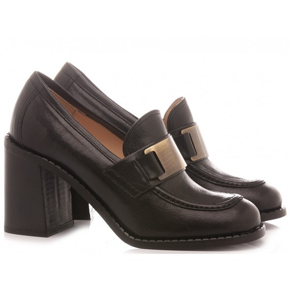 Les Autres Women's Loafers Leather Black 976