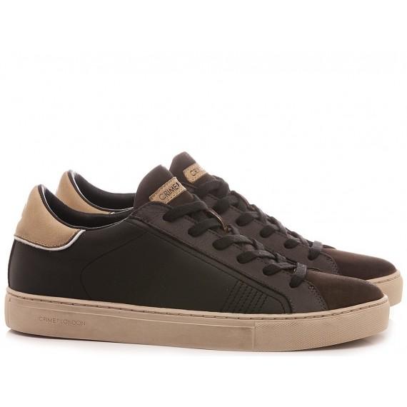 Crime London Men's Sneakers Low Top Essential Grey
