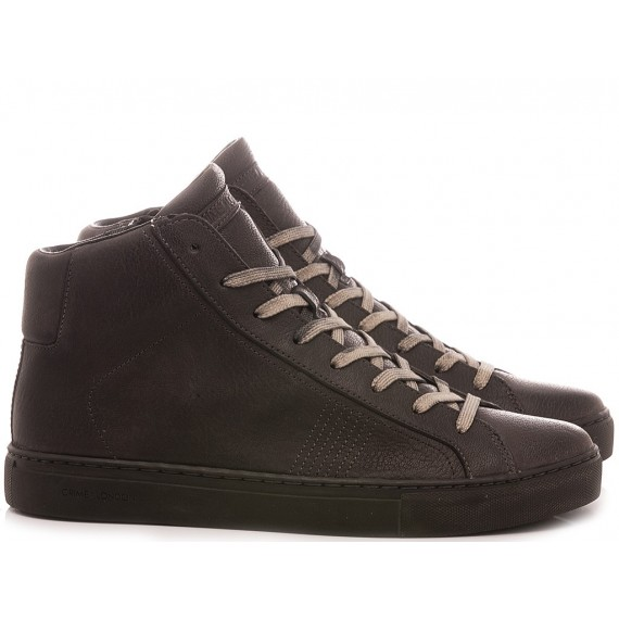 Crime London Men's Sneakers High Top Essential Grey