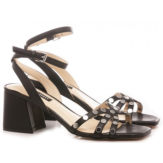 Nine West Women's Sandals Leather Black WNGALE