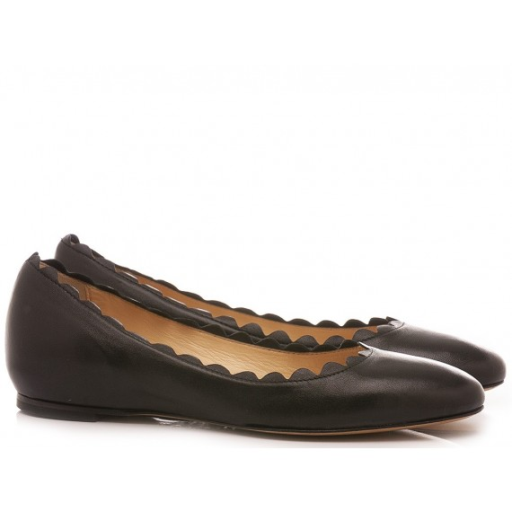 L'Arianna Women's Ballerina Shoes Siviglia Black BL1087