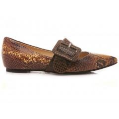 L'Arianna Women's Shoes Snake Mustard BL1142