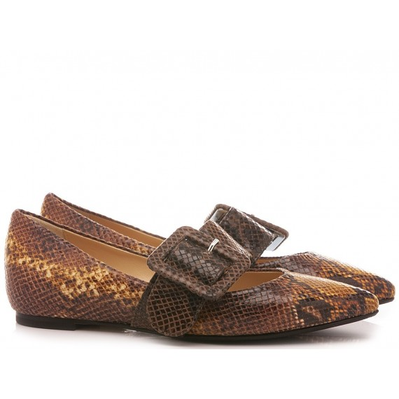 L'Arianna Women's Shoes Snake Mustard BL1142