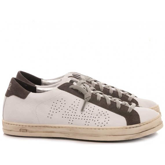 P448 Men's Low Sneakers F20BJOHN-M White-Grey