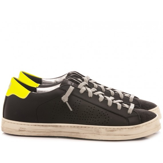 P448 Men's Low Sneakers F20BJOHN-M Black-Yellow