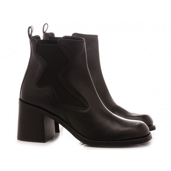Janet & Janet Women's Ankle Boots Leather Black 46357