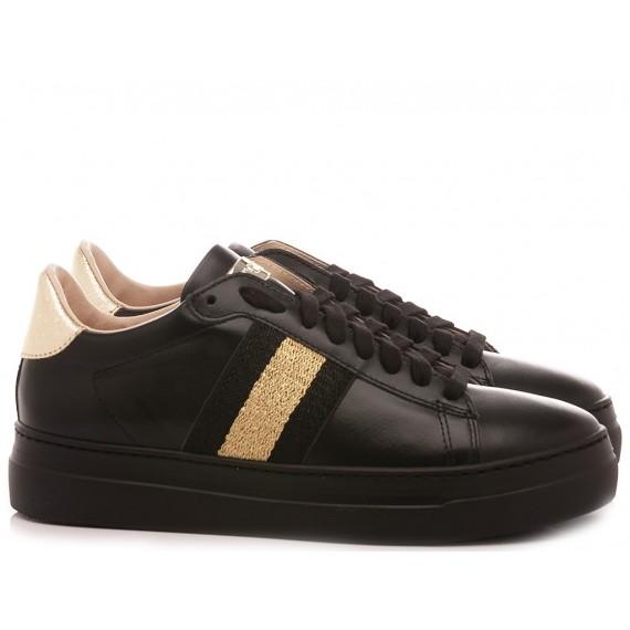 Stokton Women's Sneakers Leather Black 758-D-FW20-U