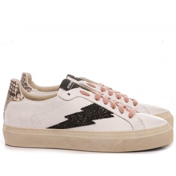 Stokton Women's Sneakers Leather White Blaze-D-FW20