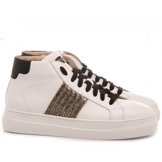 Stokton Women's Sneakers Leather White 864-D