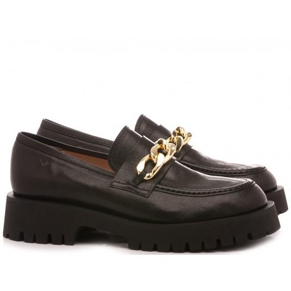 Les Autres Women's Loafers Leather Black 582