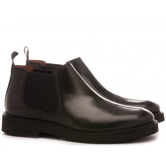 Frau Men's Ankle Boots Leather Black 74L3