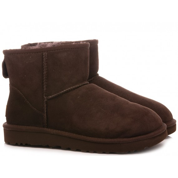 UGG Women's Ankle Boots W Classic Mini II Chocolate Suede