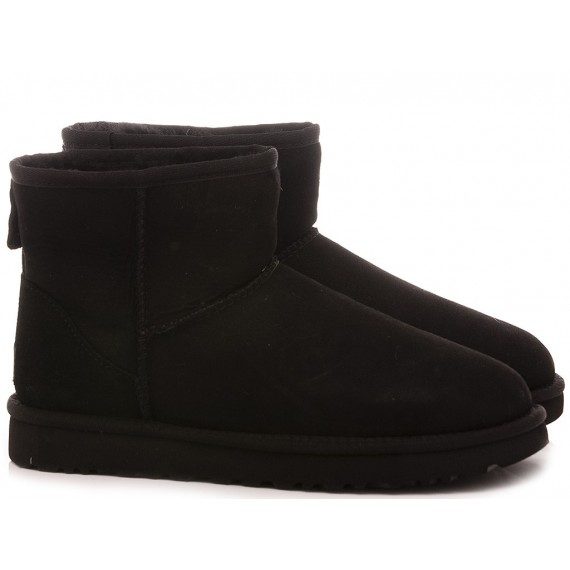 UGG Women's Ankle Boots W Classic Mini II Black Suede