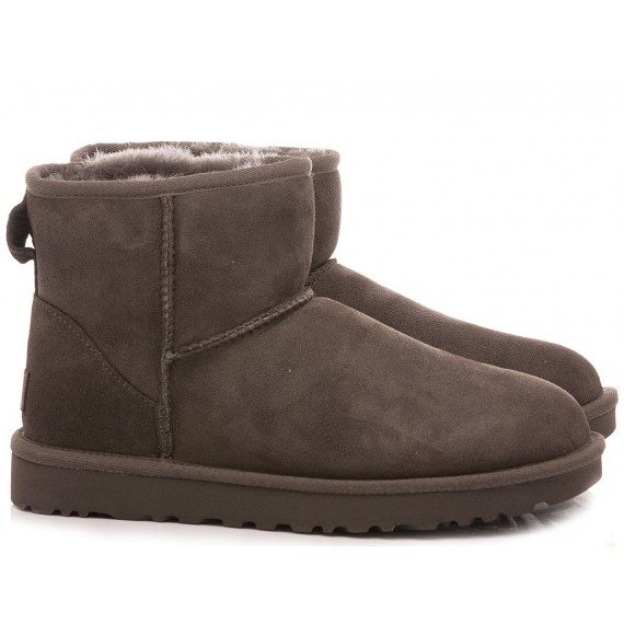 UGG Women's Ankle Boots W Classic Mini II Grey Suede