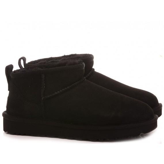 UGG Women's Ankle Boots W Classic Ultra Mini Black Suede