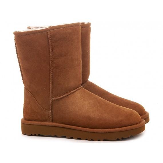 UGG Women's Ankle Boots W Classic Short II Chestnut Suede