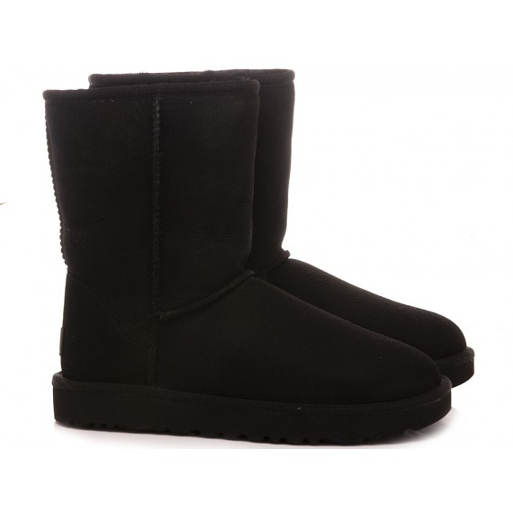 UGG Women's Ankle Boots W Classic Short II Black Suede