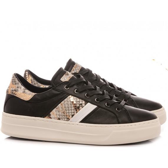 Crime London Women's Sneakers Low Top Classic Black