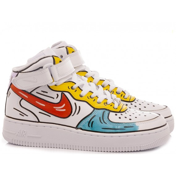 Nike Women's Sneakers Air Force 1 Mid Costumized