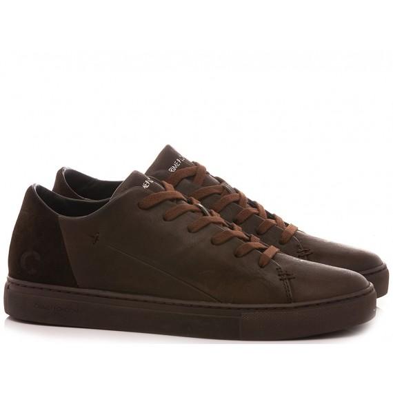 Crime London Men's Sneakers Low Cut Minimal Brown