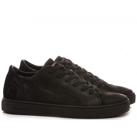 Crime London Men's Sneakers Low Cut Minimal Black
